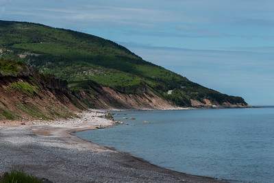 Scenic view of beach, Cabot Trail, Cape Breton Highlands National Park, Cape Breton Island, Nova Scotia, Canada