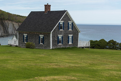 House at waterfront, St. Margaret Village, Cape Breton Island, Nova Scotia, Canada