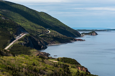 Scenic view of a coastal road, Petit Etang, Cape Breton Highlands National Park, Cape Breton Island, Nova Scotia, Canada