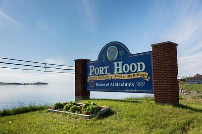 Port Hood sign at Ceilidh Trail, Cape Breton Island, Nova Scotia, Canada