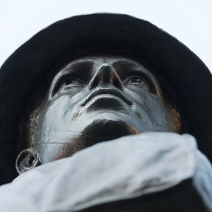 Soldier statue in Queens Square, Charlottetown, Prince Edward Island, Canada
