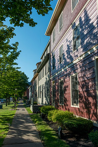 Path along side of houses, Charlottetown, Prince Edward Island, Canada