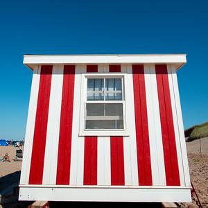 Lifeguard hut on Cavendish Beach, Green Gables, Prince Edward Island, Canada