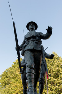 Soldier statues in Queens Square, Charlottetown, Prince Edward Island, Canada