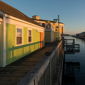 Waterfront buildings at Spinnakers Landing, Summerside, Prince Edward Island, Canada