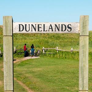 Tourists at Cavendish Dunelands Trail, Green Gables, Prince Edward Island, Canada
