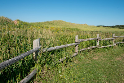 Fence along Cavendish Dunelands Trail, Green Gables, Prince Edward Island, Canada