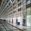 People walking up an interior atrium corridor Toronto, Ontario, Canada
