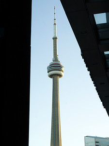 Low angle view of CN Tower, Toronto, Ontario, Canada