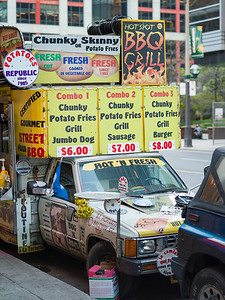 Fast food van at the roadside, Toronto, Ontario, Canada