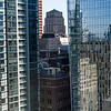 Reflection of buildings on other buildings, Toronto, Ontario, Canada