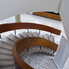 High angle view of spiral staircase, New Toronto City Hall, Toronto, Ontario, Canada