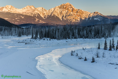 Morning Sunrise along the Icefields Parkway