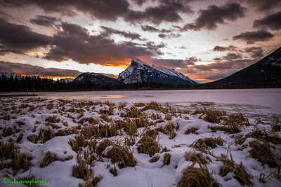 Wide Angle Banff Sunrise