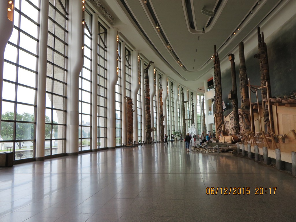 Museum of Civilization, Ottawa, Canada with Tauck Tours: Aboriginal artworks