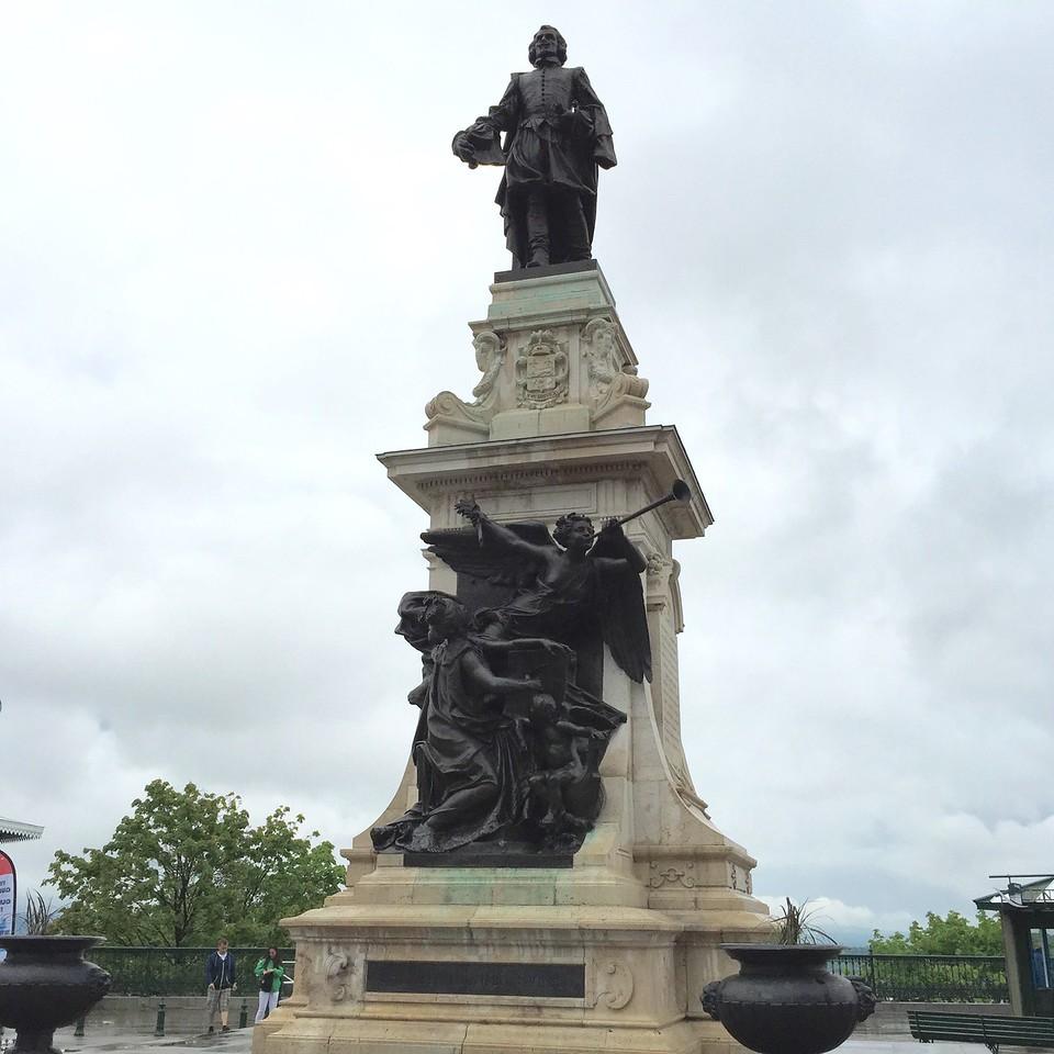 """The motto of Quebec: """"Je me Souviens"""" Quebec City, Quebec, Canada"""