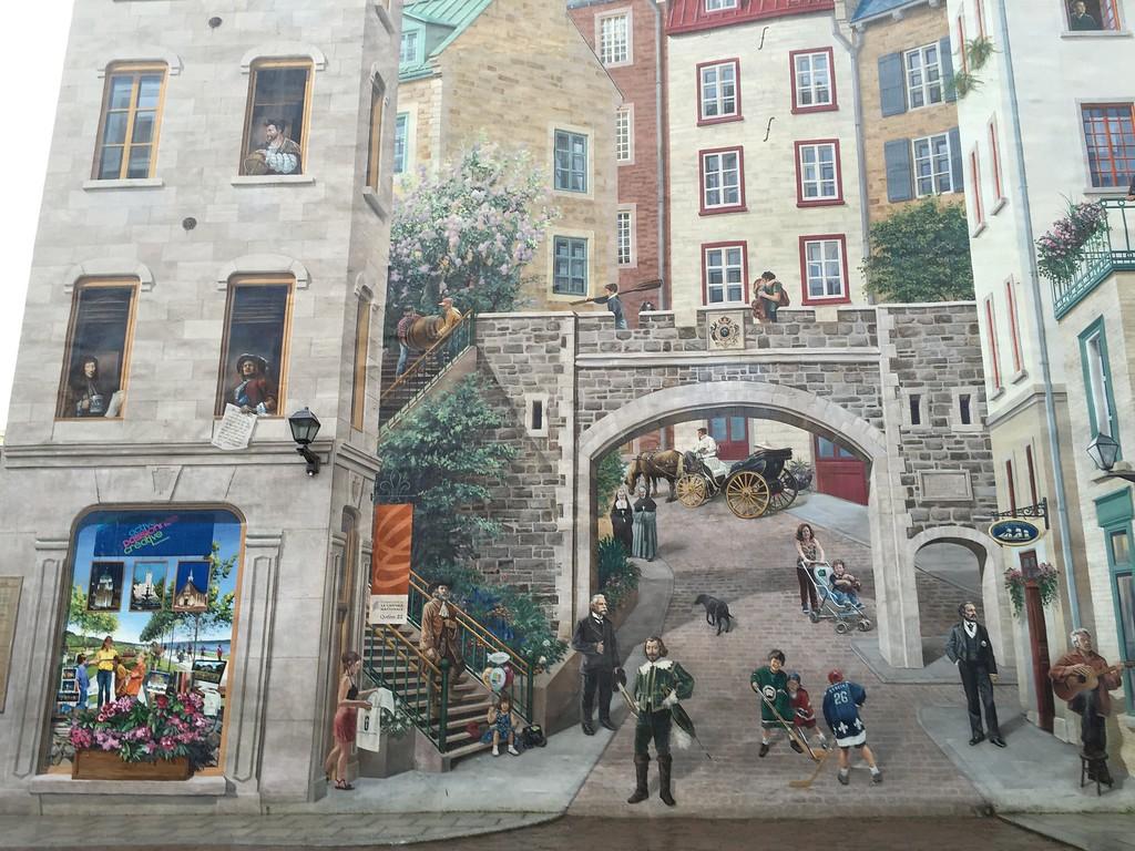 Fresco of Quebec, Old Quebec City, Quebec, Canada