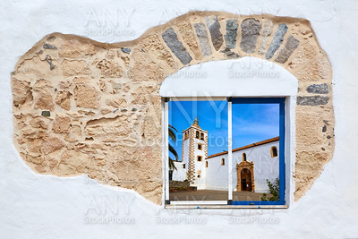 Fuerteventura a white window photomount