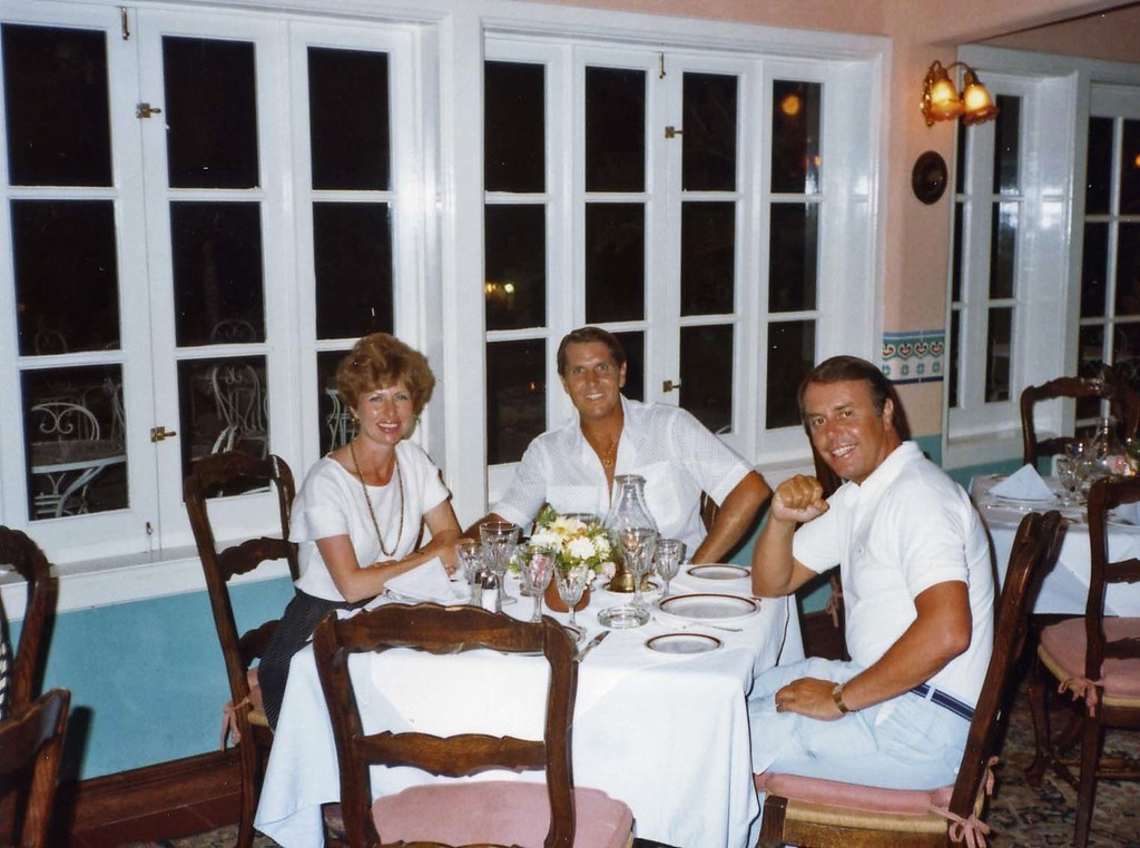 Dining with Lloyd at Maxine's, Trip to Cazumel and Cancun, Mexico, August 20-27, 1983