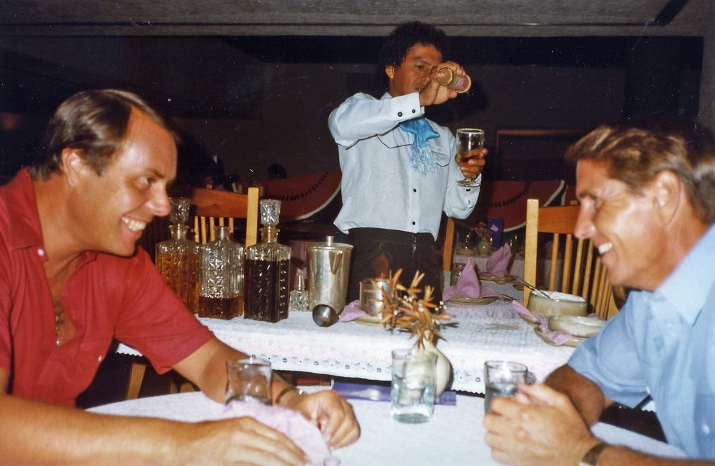 Dinner time with Lloyd and Tom, Trip to Cazumel and Cancun, Mexico, August 20-27, 1983