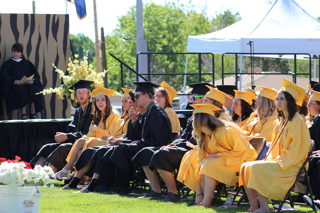 . CCHS grads wait to receive their diplomas at the 2016 commencement ceremony.
