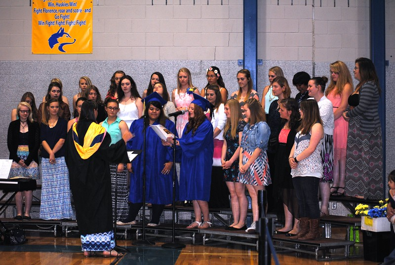 Florence High School Concert Choir under the direction of Anne Farus.