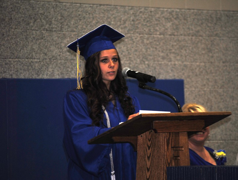Florence High School Senior Speaker Kendra Wertsbaugh