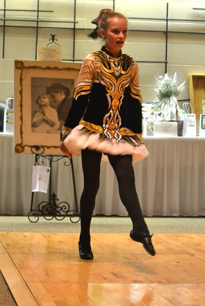 Celtic Steps Irish Dance Studio member performs Saturday at the  Colorado Museum of Prisons'  fundraiser.