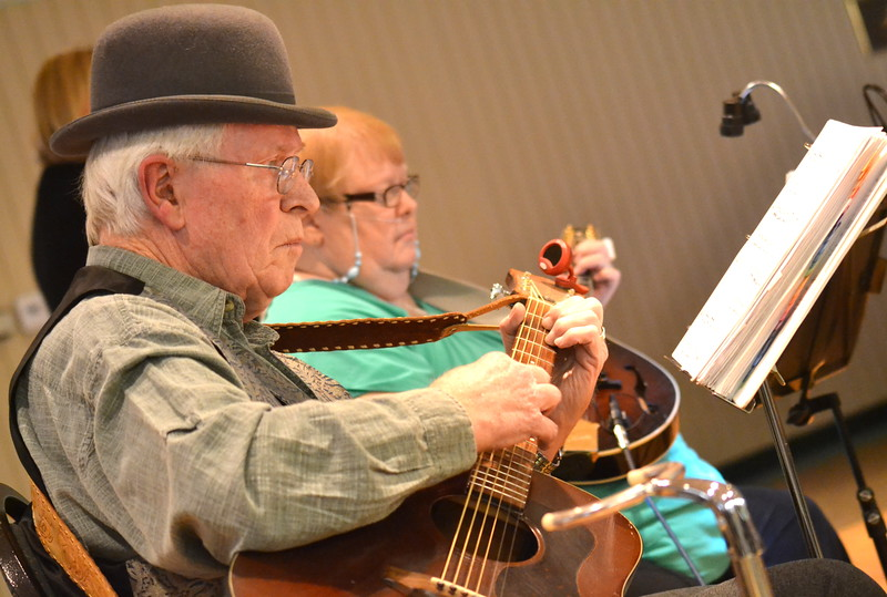 Serendipity Peak Dulcimer Club performs Saturday during the Colorado Museum of Prisons' Ceili event.