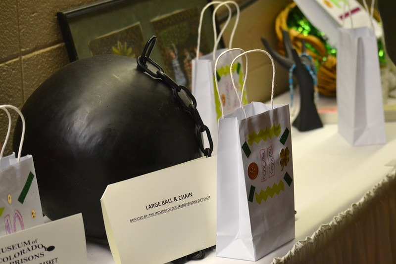 Auction items included a large ball and chain Saturday during the Colorado Museum of Prisons' Ceili event at the Abbey Events Center.