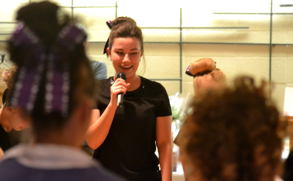. A member of the Celtic Steps Irish Dance Studio interacts with the audience Saturday during the Colorado Museum of Prisons\' fundraiser.