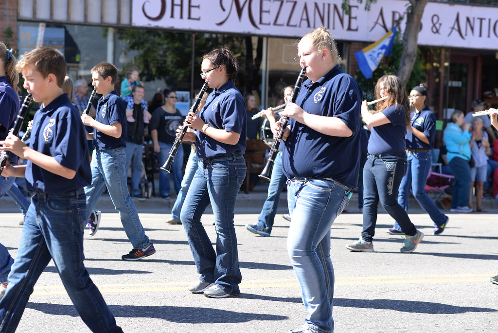 . The Florence Middle School band plays in Saturday\'s parade.
