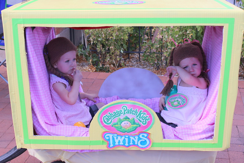 Twins Keaira and Persephone Jameson, 2, won third place in the 4 and under category at the Spook-Tacular and Trunk or Treat costume contest.
