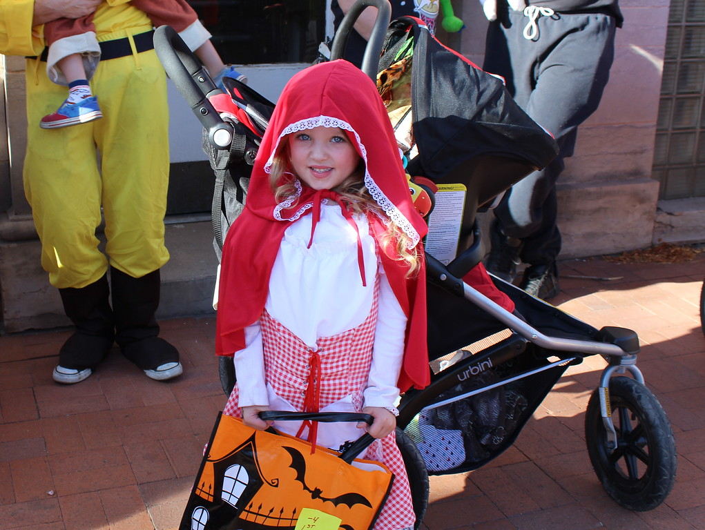 . Mackenzie McDowell won first place in the 4 and under category Spook-Tacular and Trunk or Treat costume contest.