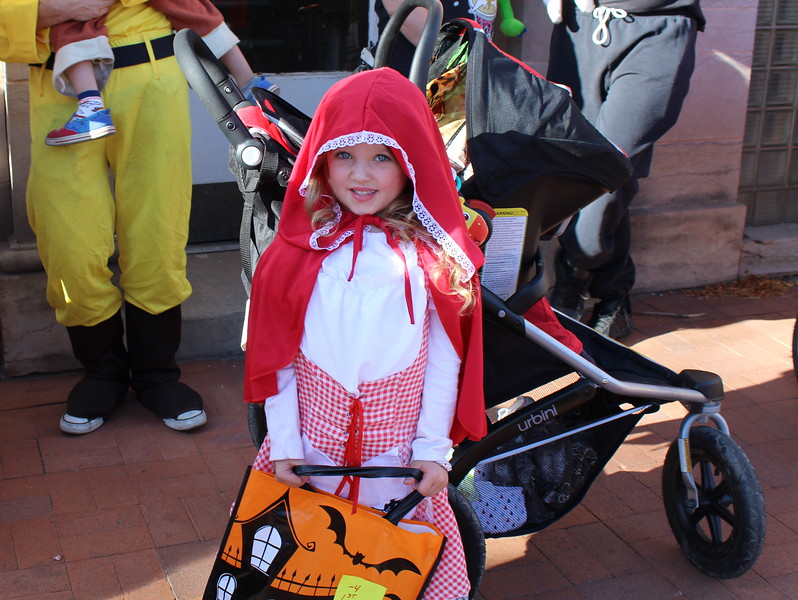 Mackenzie McDowell won first place in the 4 and under category Spook-Tacular and Trunk or Treat costume contest.
