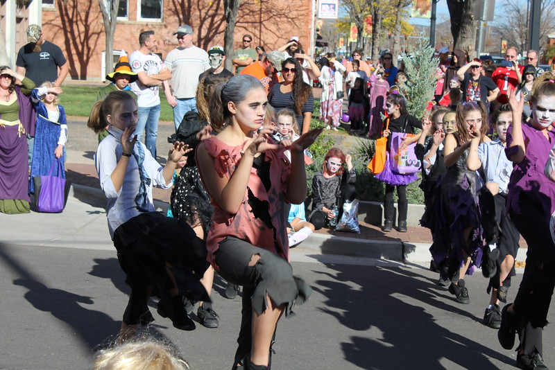 """Dancers from Trevarah Studio perform """"Thriller"""" at Spook-Tacular and Trunk or Treat."""