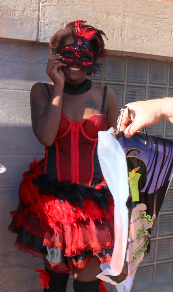 Jazmine Jefferson won second place in the 15 to 18 category at the Spook-Tacular and Trunk or Treat costume contest.