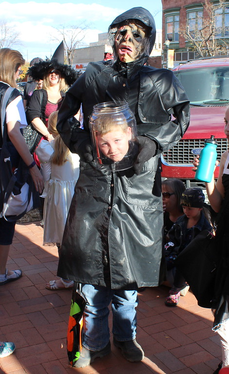 . Sage Prock, 10, won first place in the 5 to 10 category at the Spook-Tacular and Trunk or Treat costume contest.