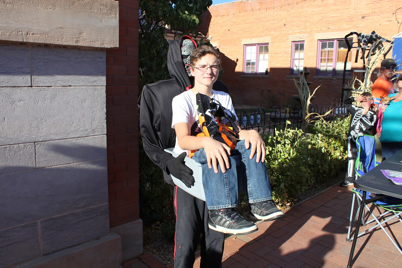Kaden Prock won first place in the 11 to 14 category at the Spook-Tacular and Trunk or Treat costume contest.