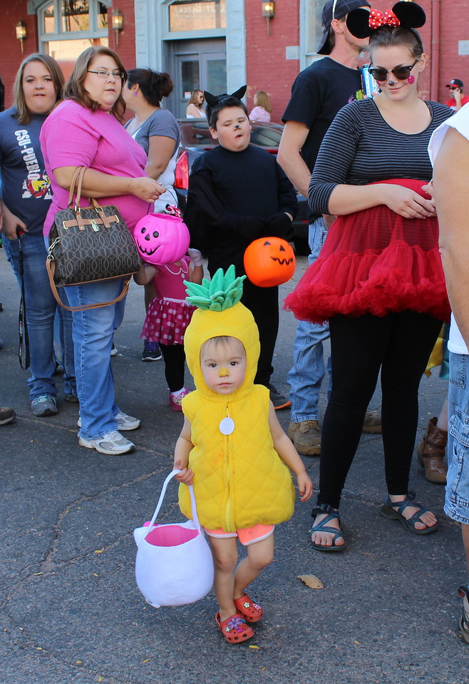 Josephine Johns, 2, poses for a photo at the Spook-Tacular and Trunk or Treat event.