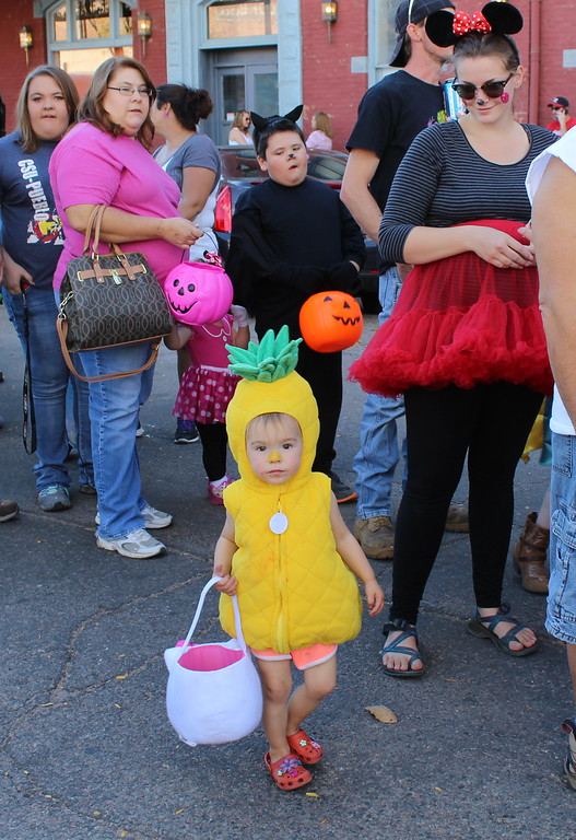 . Josephine Johns, 2, poses for a photo at the Spook-Tacular and Trunk or Treat event.