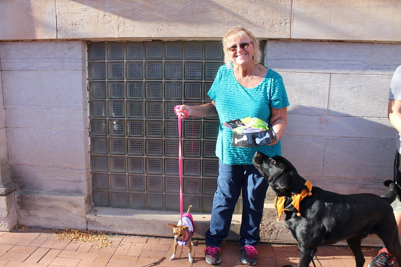 Veda Overy's dog, Terra, won third place in the pet category at the Spook-Tacular and Trunk or Treat costume contest.