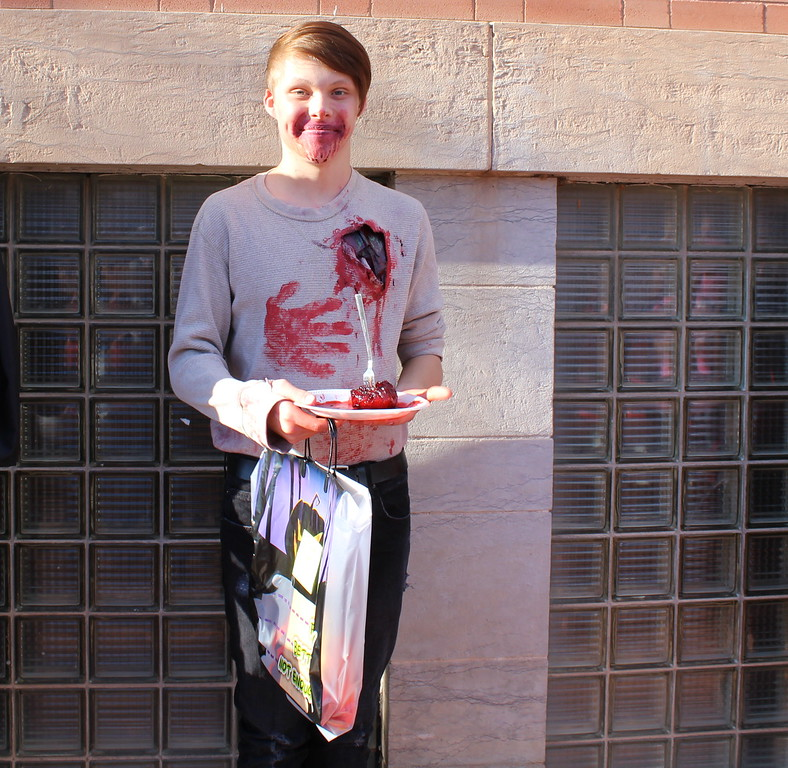 Jacob Henry won first place in the 15 to 18 category at the Spook-Tacular and Trunk or Treat costume contest.