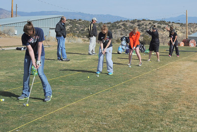 Tigers golfers practice on Thursday at Shadow Hills Golf Club. Brandon Hopper/Daily Record