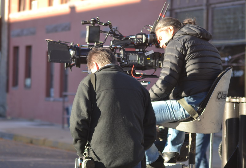 Netflix filmmakers Monday during the filming of 'Our Souls at Night' in Florence.