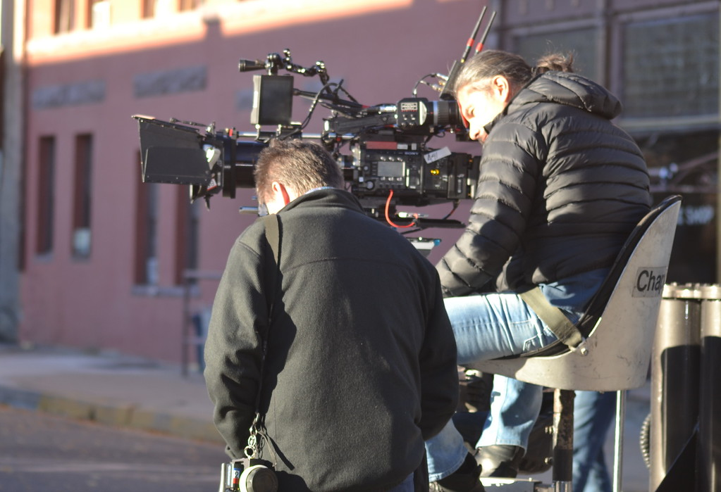 . Netflix filmmakers Monday during the filming of \'Our Souls at Night\' in Florence.