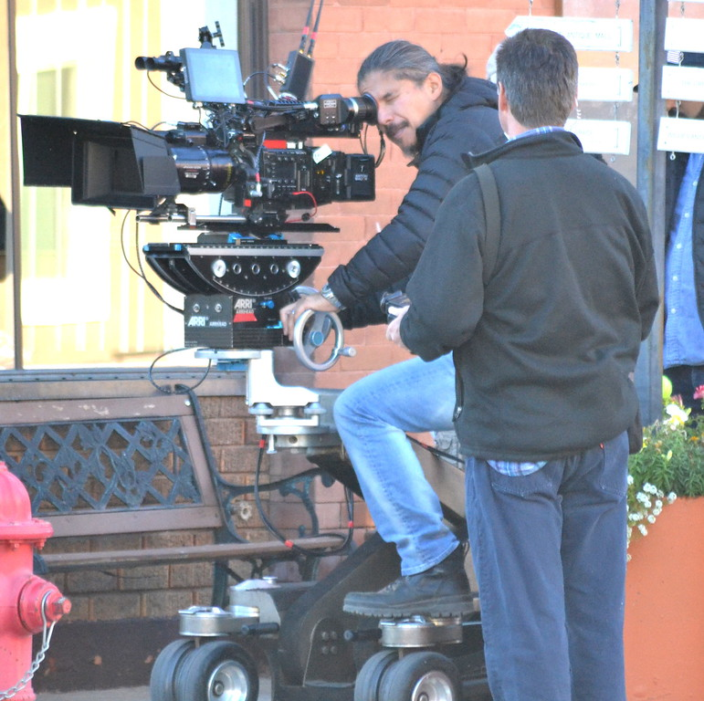 . Netflix films a scene for \'Our Souls at Night\' starring Robert Redford and Jane Fonda.