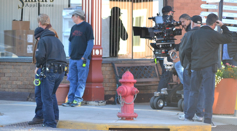 Netflix film crew for 'Our Souls at Night,' which is being shot in Florence this week.