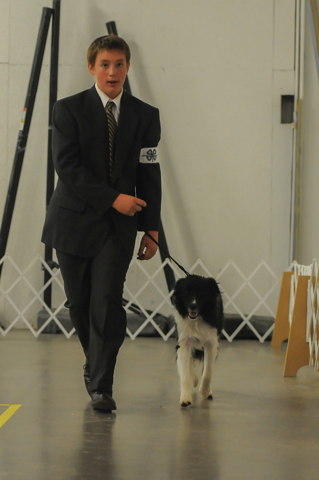Frederic Schmid during the dog show Wednesday at First Baptist Church in Florence.