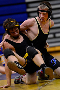 Husky Derik Yeager against Manitou Springs. Jeff shane/ Daily Record